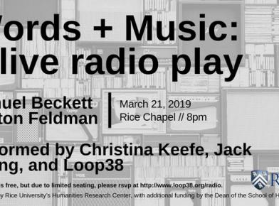Words + Music: a live radio play