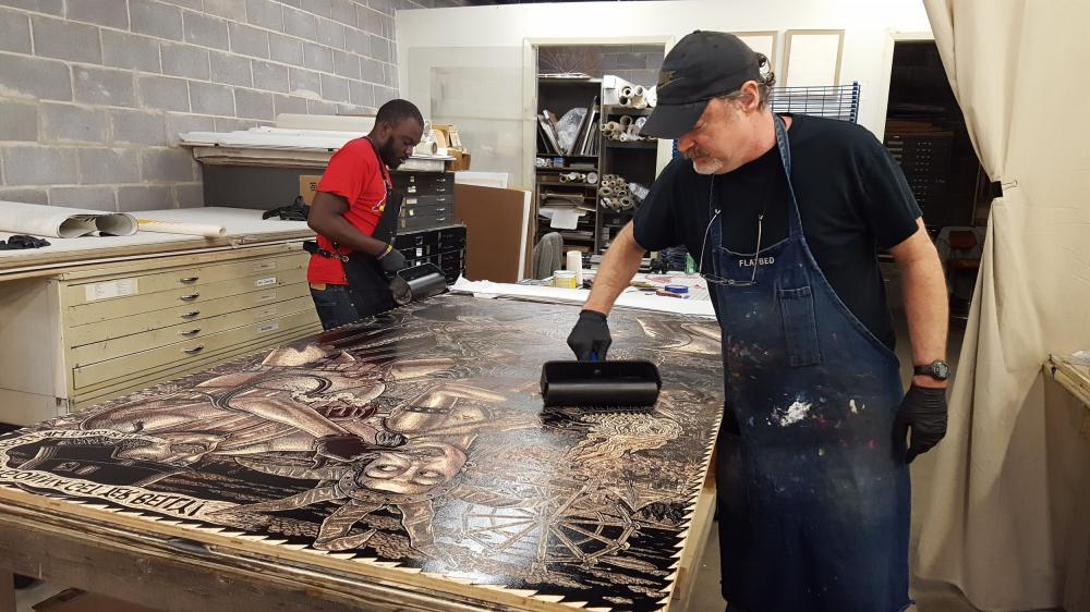 "Killer Cutting: ""Evil Printmaker Tom Huck"" and relief printings resurgence"