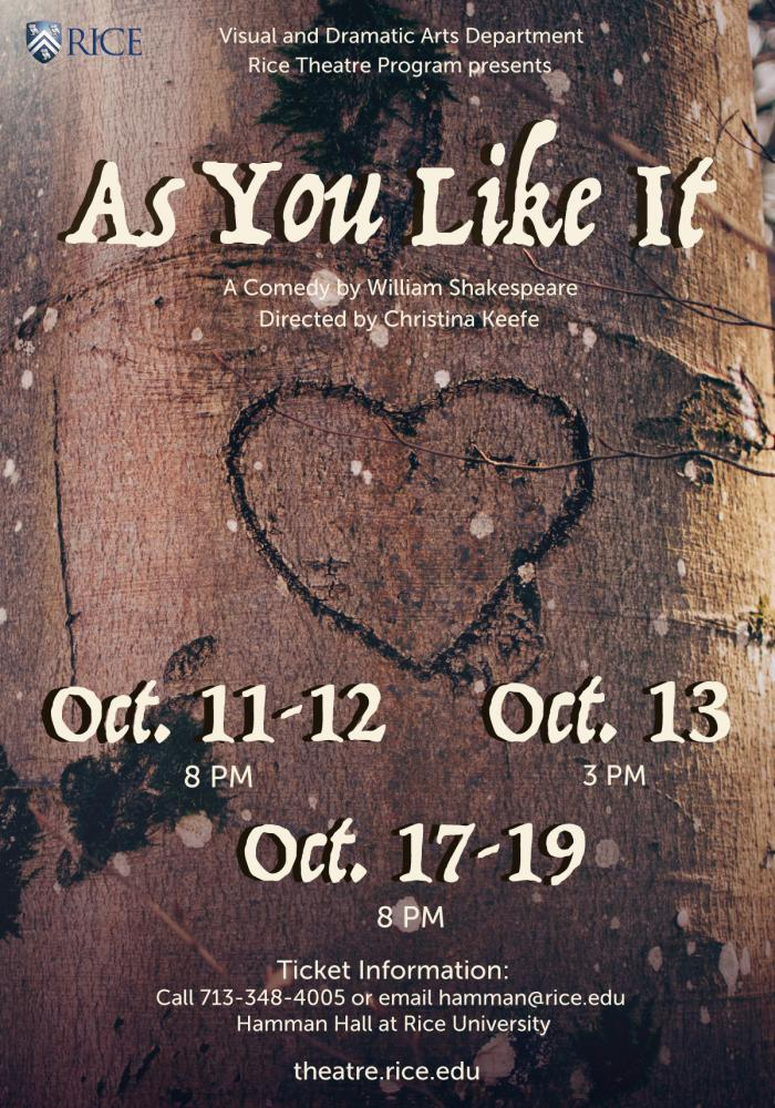 """""""As You Like It"""" a comedy by William Shakespeare"""