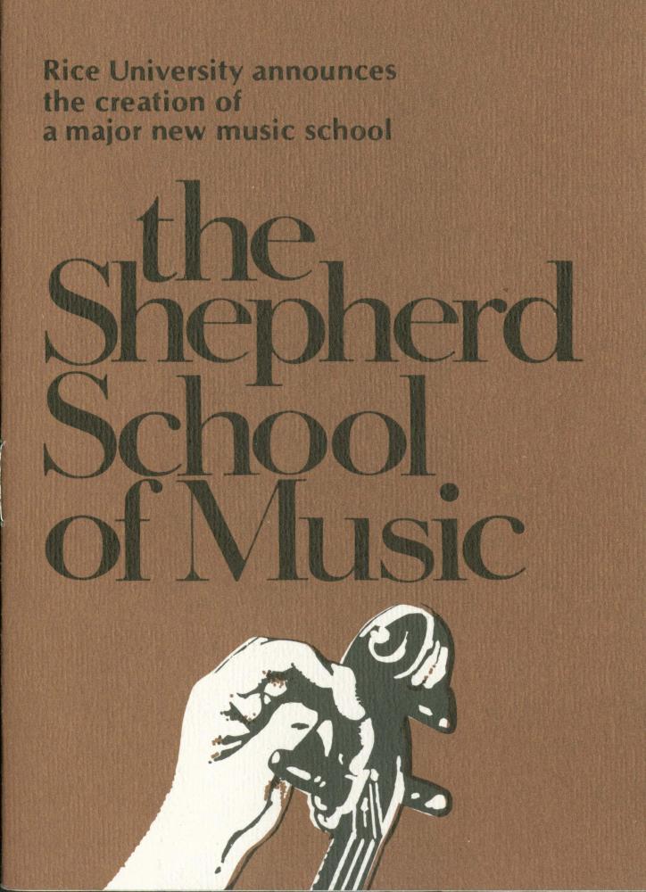 Sheperd School of Music inaugural concert program, 1975.