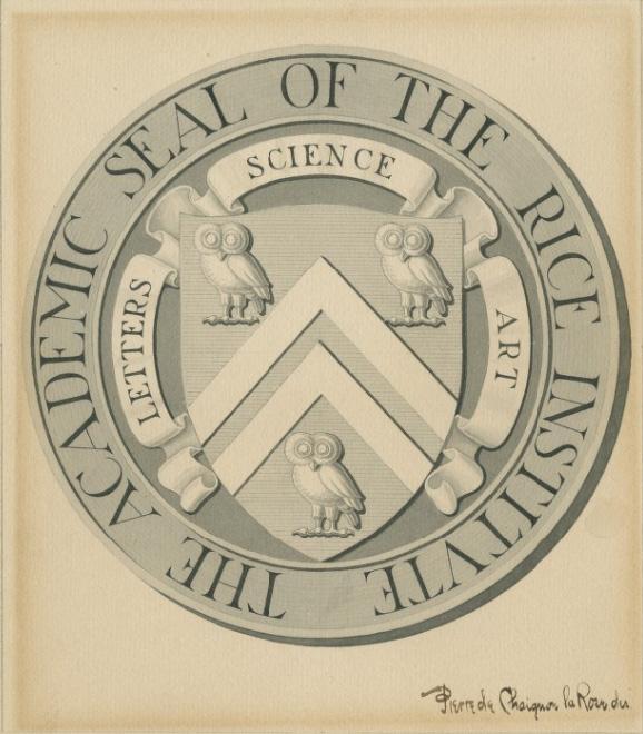 Rice Institute academic seal, 1912.